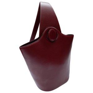 burgundy Plain Leather CARTIER Handbag - Vestiaire Collective