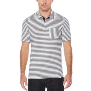 Short Sleeve Cross Stripe Piecing Polo