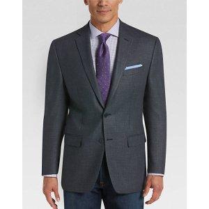 Calvin Klein Navy Check Slim Fit Sport Coat - Men's Sport Coats   Men's Wearhouse