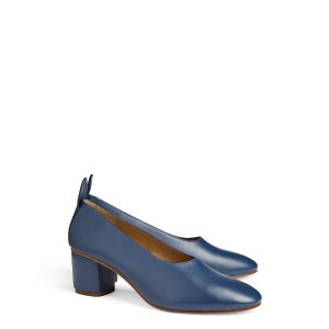 Calf Leather Ballerina Pump in Blue