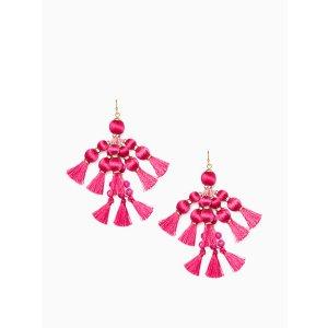 pretty poms tassel statement earrings | Kate Spade New York