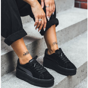 FENTY PUMA by Rihanna Cleated Creeper Suede Black Sneakers | ELEVTD Free Shipping & Returns