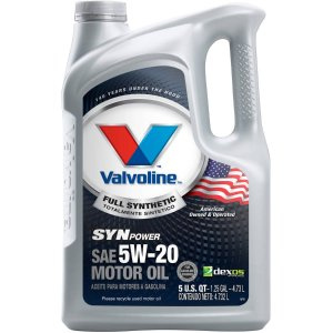 Valvoline SynPower Full Synthetic SAE 5W-20 Motor Oil 5qt