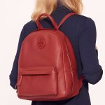 Leather Backpack @ Tory Burch