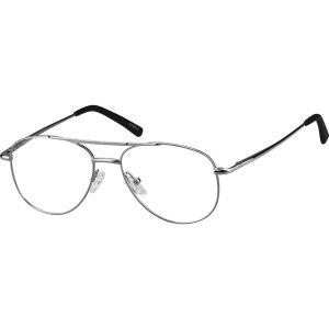Silver Traditional Aviator Eyeglasses & Sunglasses #4190 | Zenni Optical Eyeglasses