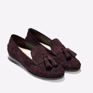 Pinch Grand Tassel Loafers in Chestnut Suede | Cole Haan
