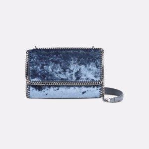 Blue Velvet Falabella Shoulder Bag - Stella Mccartney