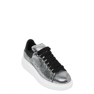40MM CRACKLED LEATHER SNEAKERS