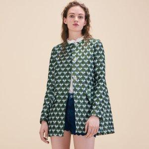 GLEM Straight-cut jacquard coat
