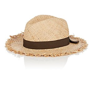 Barneys New York Raw-Edge Straw Hat