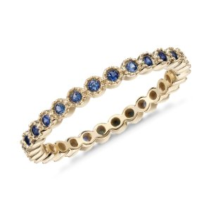 Sapphire Eternity Ring in 14k Yellow Gold (1.3mm) | Blue Nile