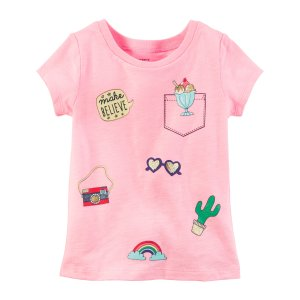 Baby Girl Neon Patch Graphic Tee | Carters.com