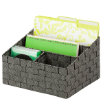 Honey-Can-Do OFC-03690 Mail and File Desk Organizer, 12 by 10.25 by 7-Inch, Salt and Pepper