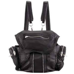 Alexander Wang Mini Marti Leather Backpack, Black/Nickel