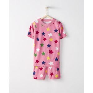 Short John Pajamas In Organic Cotton