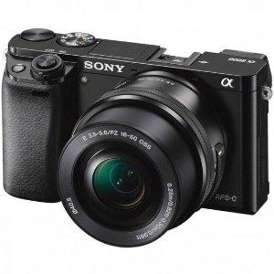Sony Alpha a6000 24.3MP Mirrorless Digital Camera with 16-50mm Lens (Black)