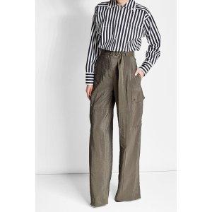 Striped Cotton Shirt with High-Low Hemline - Nina Ricci | WOMEN | US STYLEBOP.COM