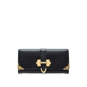 Prada Saffiano Cahier Long Flap Wallet