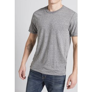 Men's STANDARD FIT KACE T-SHIRT of 50% POLYESTER, 37% COTTON, 13% RAYON / Machine Wash Made in USA by CURRENT/ELLIOTT