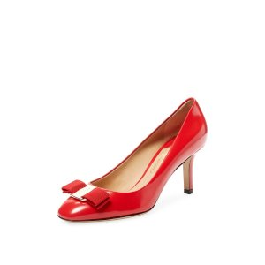 Bow Pointed-Toe High Heel Pump by Salvatore Ferragamo at Gilt