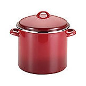 Rachael Ray® 12-qt. Red Enamel on Steel Covered Stockpot | Bon-Ton