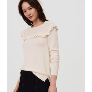 Ruffle Yoke Sweater | LOFT