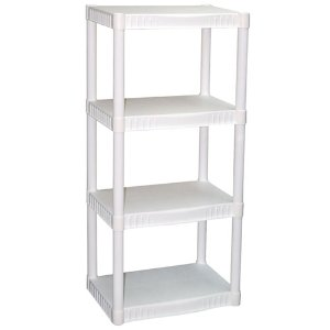 $12.08Plano 4-Tier Heavy-Duty Plastic Shelves, White