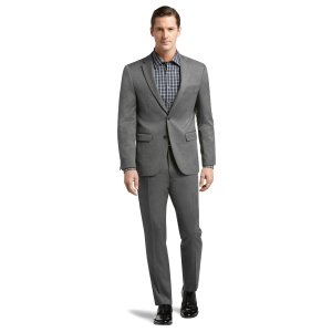 Classic Collection Slim Fit Birdseye Suit CLEARANCE - Deal of the Day   Jos A Bank