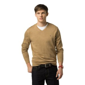 COTTON AND SILK V-NECK SWEATER   Tommy Hilfiger