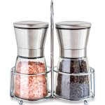 Willow & Everett Salt and Pepper Grinder Set with Matching Stand