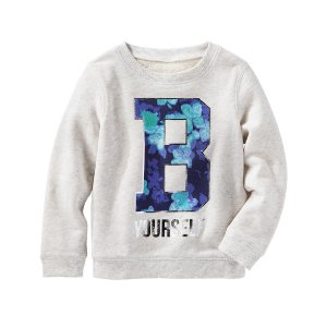 Kid Girl Heathered French Terry Pullover | OshKosh.com