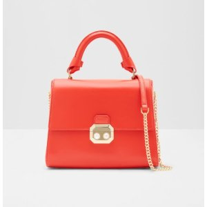VERINA Crystal and pearl leather bag