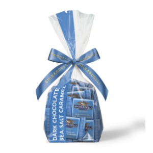 Dark Chocolate Sea Salt Caramel SQUARES Gift Bag (33 pc) | Ghirardelli