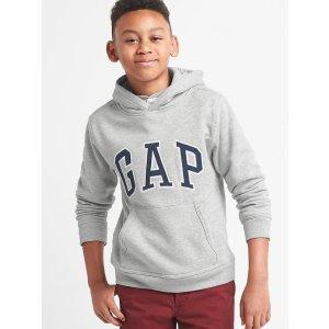 Logo fleece hoodie