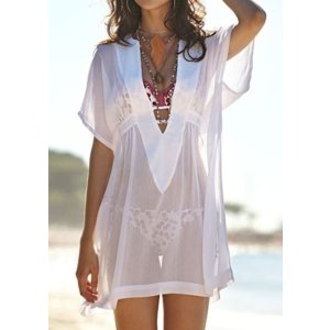 Solid See-Through Cover Up Without Necklace - Fairyseason