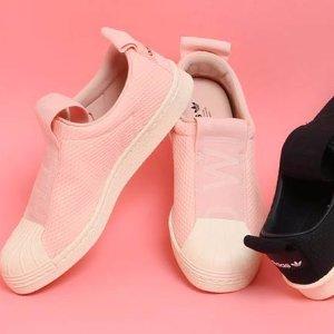 $31.5 (原价$90) + 免邮 码全白菜价:adidas 最新女款一脚蹬Superstar 额外7折 两色选