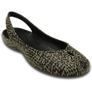 Women's Olivia II Leopard Print Flat | Women's Flats | Crocs Official Site