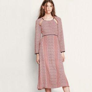 ROBYN Mid-length printed dress - Dresses - Maje.com