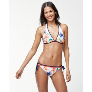 Floral Showers Reversible Halter Bikini Top