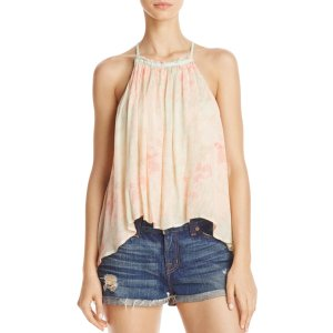 Free People Season in the Sun Lace-Up Top | Bloomingdale's