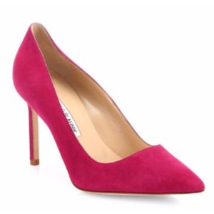 Manolo Blahnik - BB 90 Suede Point Toe Pumps - saks.com