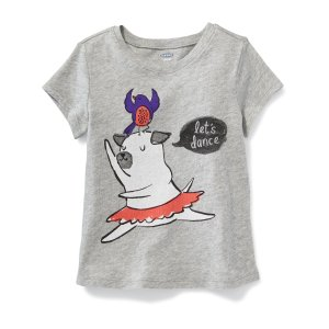 Graphic Crew-Neck Tee for Toddler Girls | Old Navy