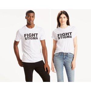 Levi's® Pride Community Tee | Fight Stigma White |Levi's® United States (US)