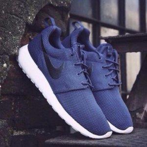Nike Roshe One Men's Shoes Blue & Black Sale