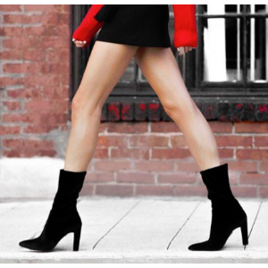 Clinger Mid-Calf Booties - Shoes | Shop Stuart Weitzman