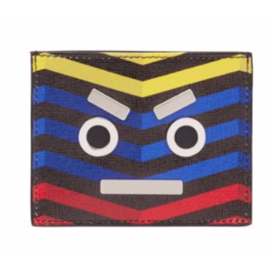 Fendi - Faces Multicolored Leather Card Case - saks.com