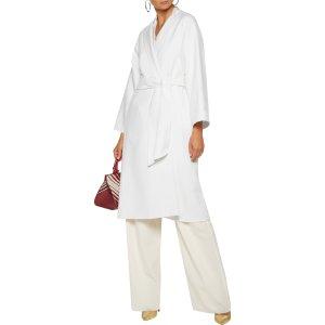 Wool and angora-blend felt coat