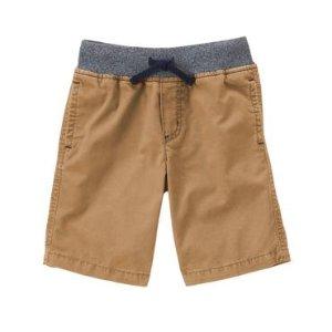 Boys Dark Khaki Twill Shorts by Gymboree