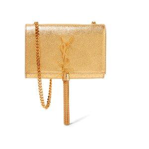 Saint Lauren Monogramme Kate small metallic textured-leather shoulder bag