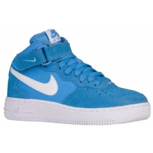Nike Air Force 1 Mid - Boys' Grade School - Basketball - Shoes - University Blue/White/White
